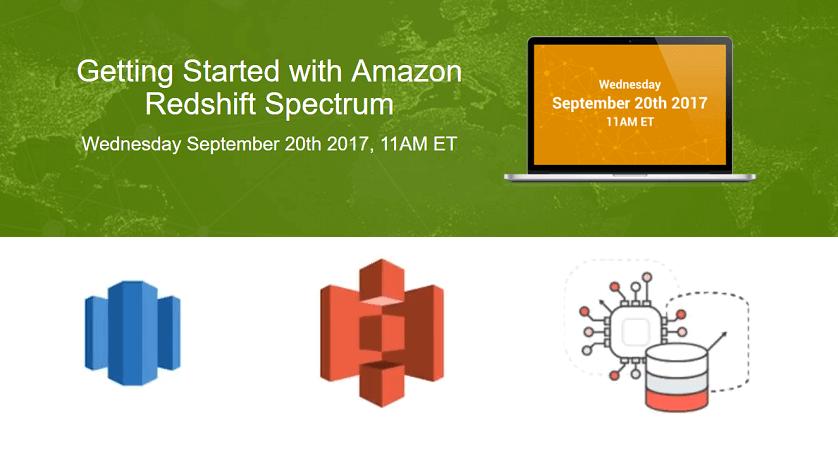 Matillion ETL Getting started with Amazon Redshift Spectrum