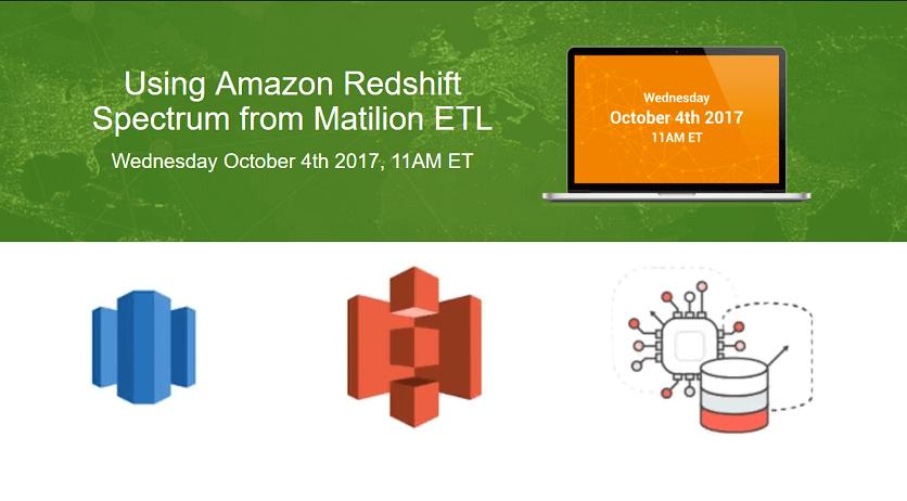 Amazon Redshift Spectrum-Matillion-Blog