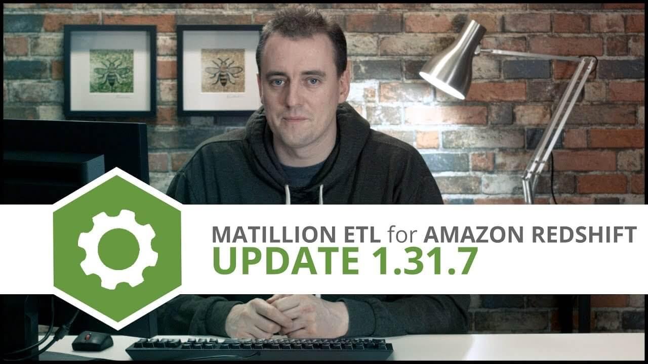matillion etl for Amazon Redshift v1.31