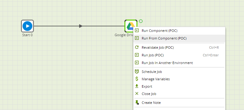 Google Drive Table Component in Matillion ETL for BigQuery - run component